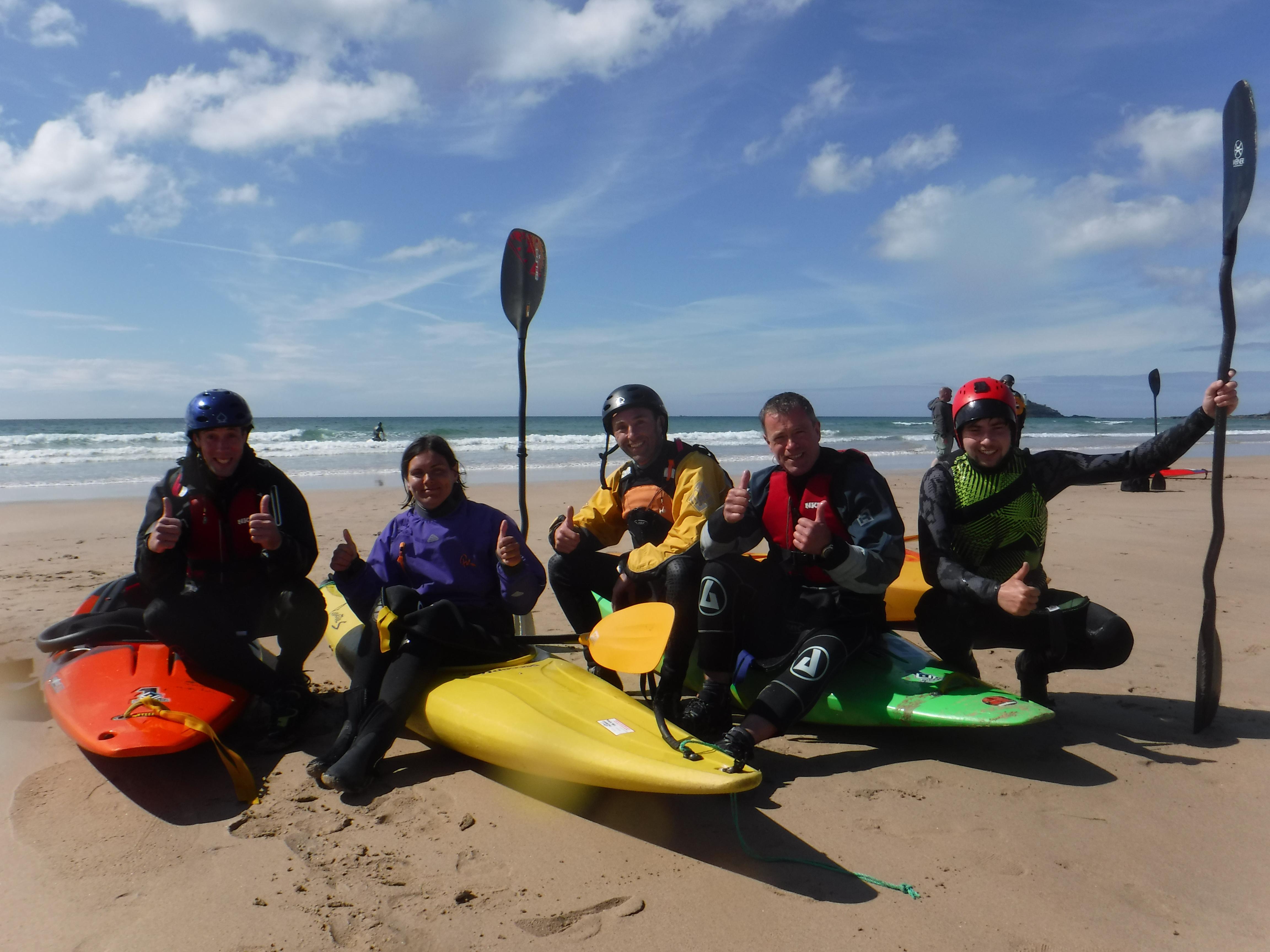 Surf kayak coaching Cornwall
